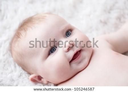 Smile of Baby [6 Month Old] - stock photo