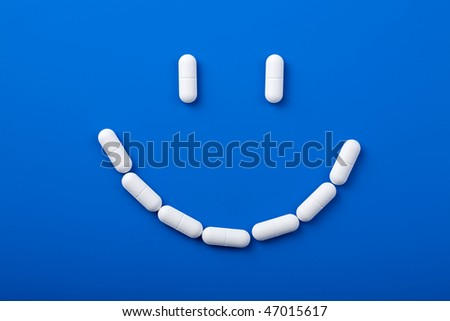 smile of pills - stock photo