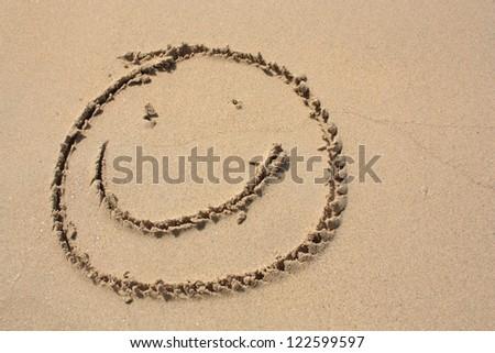 Smile on the beach - stock photo