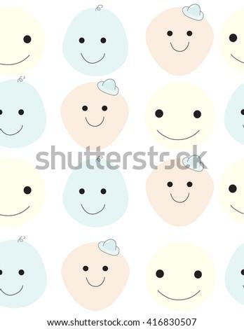 smile seamless.seamless pattern.illustration - stock photo
