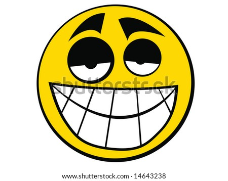 Smiley Icon easy - stock photo