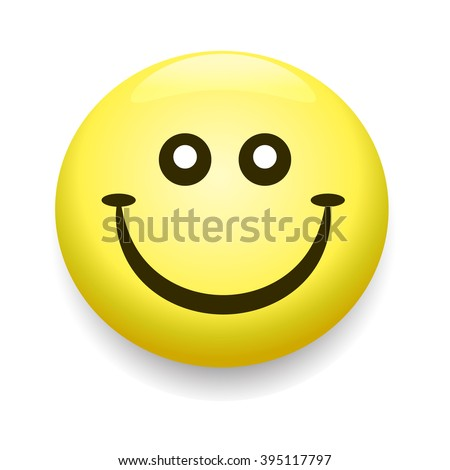 Smiley icon, smile face yellow symbol of happyness - stock photo