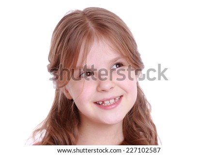 Smiley little girl - stock photo