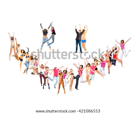 Smiley People Smile Sign  - stock photo