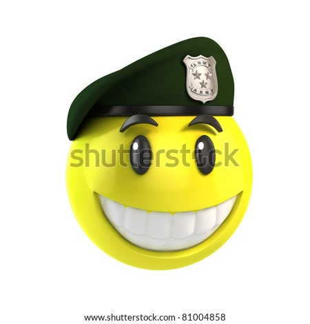 smiley solider - stock photo