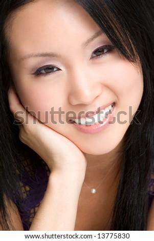 Smiling Asian Woman - stock photo