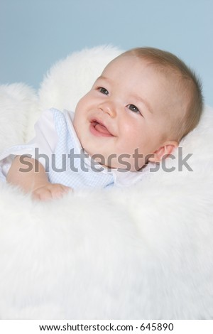 smiling baby boy - stock photo