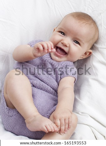 smiling baby for happy parenting - stock photo