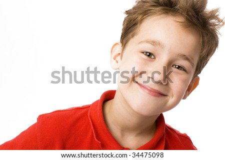 Smiling boy - stock photo
