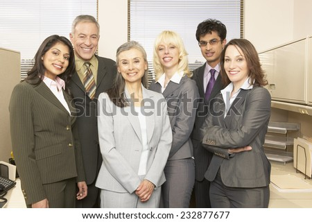 Smiling Business Team - stock photo
