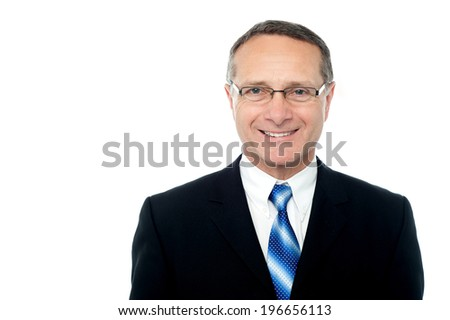 Smiling businessman isolated over white - stock photo