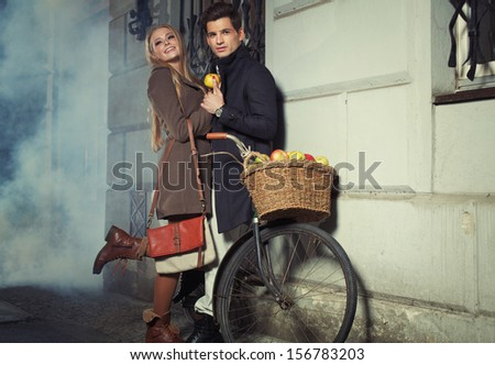 Smiling couple - stock photo