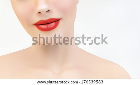 Smiling expression - stock photo