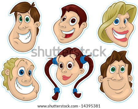 Smiling Face Fridge Magnet/Stickers #2 - stock photo