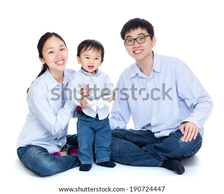 Smiling Family - stock photo
