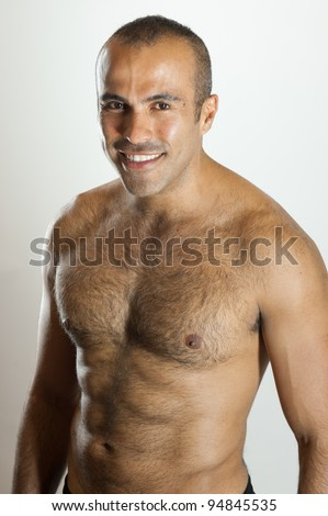 Smiling fit Latin Guy - stock photo
