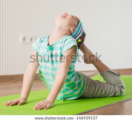 yoga kid stock photos images  pictures  shutterstock