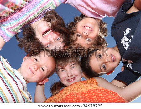 Smiling Happy Fun Friends Enjoying the Day - stock photo