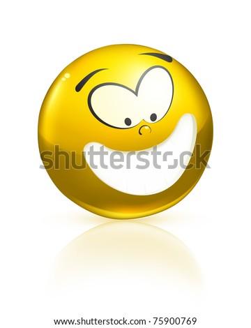 Smiling icon, bitmap copy - stock photo
