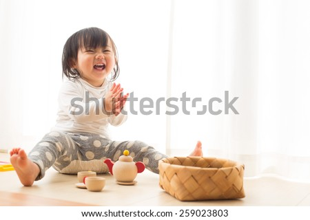smiling kid - stock photo