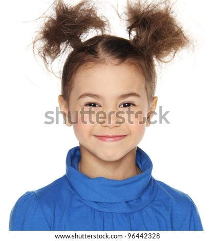 smiling little girl - stock photo
