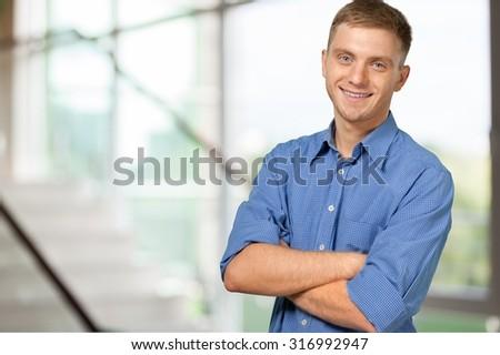 Smiling Man. - stock photo