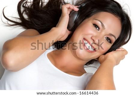 Smiling Music Woman - stock photo