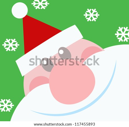 Smiling Santa Claus. Raster Illustration.Vector version also available in portfolio. - stock photo