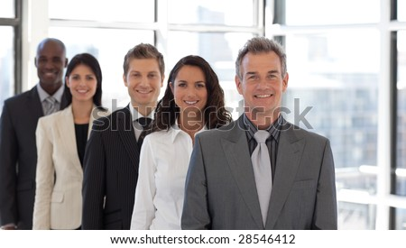 Smiling senior busienss leader - stock photo