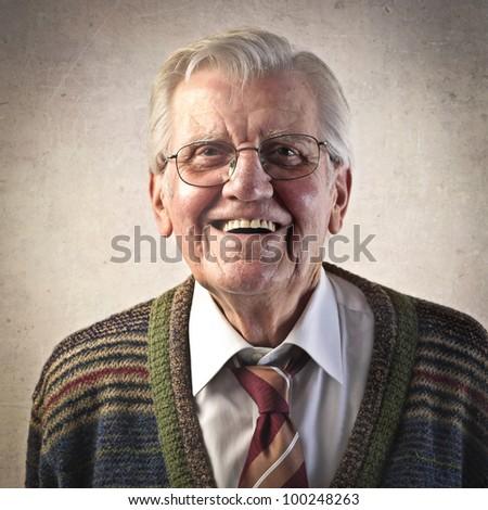 Smiling senior man - stock photo