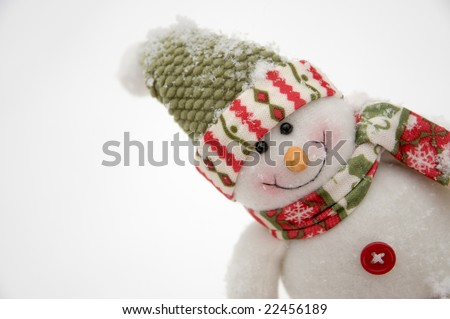 Smiling snowman - stock photo