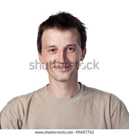 Smiling 20 something guy - stock photo