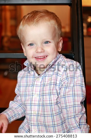 Smiling young boy. - stock photo