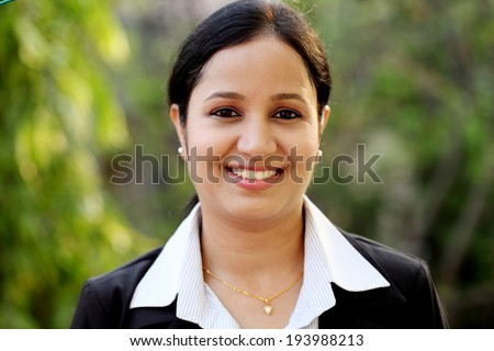 Smiling Young Business Woman - stock photo