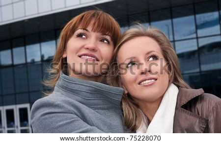 Smiling young girls - stock photo