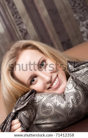 Smiling young lady - stock photo