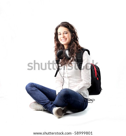 Smiling young student - stock photo