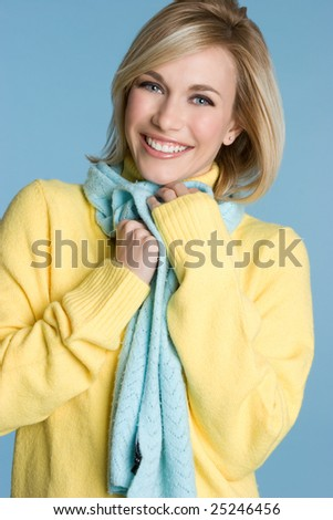 Smiling Young Woman - stock photo