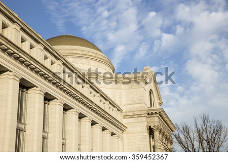 Smithsonian National Museum of Natural History. Washington, DC winter 2015 - stock photo