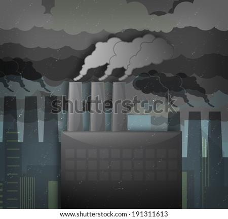 smoggy city - stock photo