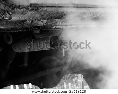 Smoke emission - stock photo
