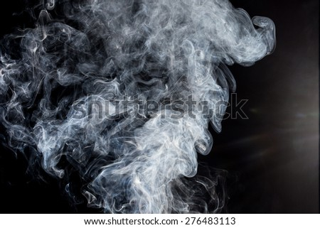 smoke on a black background - stock photo