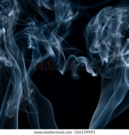 Smoke on black - stock photo