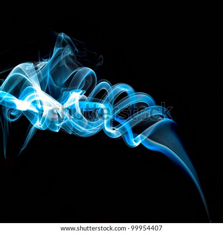 smoke on black - stock photo