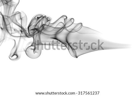 Smoke texture on white background - stock photo
