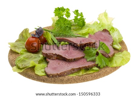 Smoked beef - stock photo