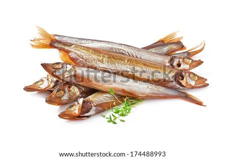 Smoked fish  - stock photo