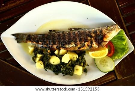Smoked mackerel fish - stock photo