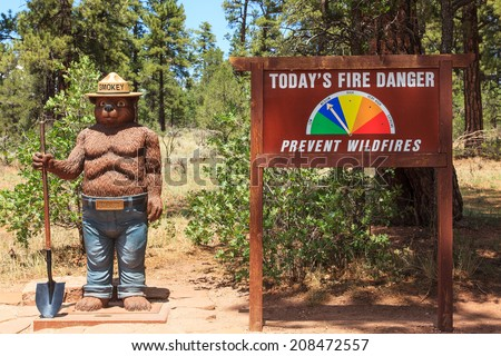 Smokey Bear Kaibab National Forest Tusayan, Arizona  - stock photo