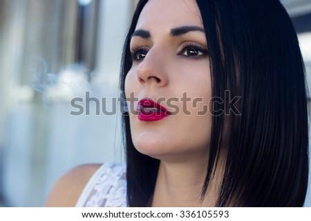 Smoking - stock photo